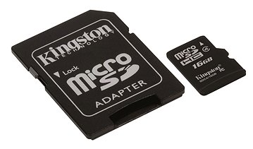 Professional Kingston 16GB MicroSDHC Card for Videocon V1580 Smartphone with custom formatting and Standard SD Adapter. . Class 4