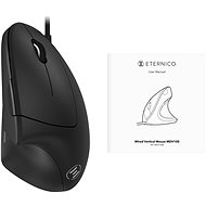 Eternico Wired Vertical Mouse MDV100, Black - Mouse