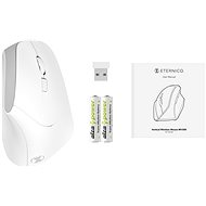 Eternico Wireless 2.4 GHz Vertical Mouse MV300, White - Mouse