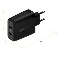 AlzaPower Q200 Quick Charge 3.0 black - AC Adapter