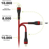 AlzaPower Coral Micro USB, 1m, Red - Data Cable