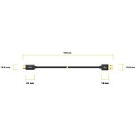 AlzaPower Core Charge 2.0 USB-C, 1m, Black - Data Cable