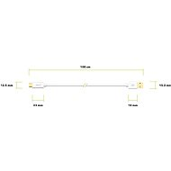 AlzaPower Core Charge 2.0 USB-C, 1m, White - Data Cable