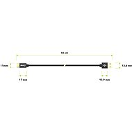 AlzaPower AluCore Charge 2.0 USB-C 0.5m Black - Data Cable
