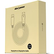 AlzaPower DisplayPort (M) to DisplayPort (M) Cable, 1.5m, Black - Video Cable
