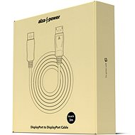 AlzaPower DisplayPort (M) to DisplayPort (M) Cable, Shielded, 3m, Black - Video Cable