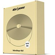 AlzaPower VelcroStrap+ Roll, 3m, White - Cable Organiser