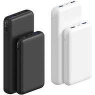 AlzaPower Carbon 20,000mAh Fast Charge + PD3.0 White - Powerbank