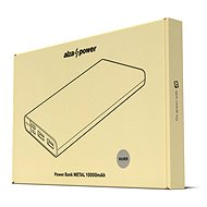 AlzaPower Metal 10000mAh Fast Charge + PD3.0 silver - Powerbank