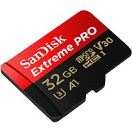 SanDisk MicroSDHC 32GB Extreme Pro A1 UHS-I (V30) + SD Adapter - Memory Card