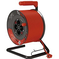 EMOS PVC Extension Cord on Spool with Switch - 4 Sockets, 50m, 1,5mm2 - Extension Cord