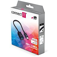 CONNECT IT Wirez USB-A to USB-C, 15cm, black - Data cable