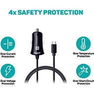CONNECT IT InCarz Charger with a 1.5m-long micro USB cable, black - Car Charger