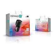 CONNECT IT InCarz QUICK CHARGE, CCC-5012-CA Carbon - Car Charger