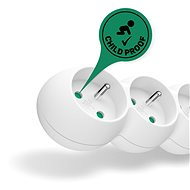 CONNECT IT 230V extension, 5 sockets + switch, 3m, white - Extension Cord