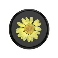 PopSockets PopGrip Gen.2, Pressed Flower Yellow Daisy, Yellow Flower Embedded in Resin - Mobile Phone Holder