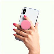 PopSockets PopGrip Gen.2, PopOuts Strawberry Macaroon, 3D Silicone Macaroon - Mobile Phone Holder