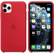 Apple iPhone 11 Pro Max Silicone Cover, RED - Mobile Case