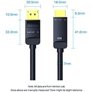 Vention 4K DisplayPort (DP) to HDMI Cable 5M Black - Video Cable