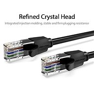 Vention Cat.6 UTP Patch Cable, 2m, Black - Network Cable