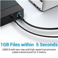 Vention USB 3.0 Male to USB-B Male Printer Cable 1.5M Black PVC Type - Data Cable