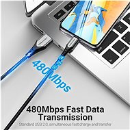 Vention Lightning MFi to USB 2.0 Braided Cable (C89) 0.5M Grey Aluminium Alloy Type - Data Cable