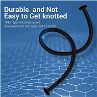 Vention Lightning MFi to USB-C Braided Cable (C94) 1.5M Grey Aluminium Alloy Type - Data Cable
