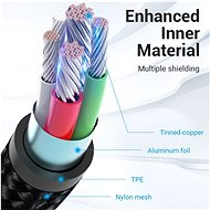 Vention Reversible USB 2.0 to Micro USB Cable 1M Grey Aluminium Alloy Type - Data Cable