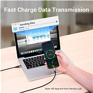 Vention Type-C (USB-C) <-> USB 2.0 Cable 3A, Grey, 0.25m, Aluminium Alloy Type - Data Cable