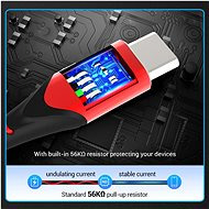 Vention Type-C (USB-C) <-> USB 2.0 Cable 3A, Red, 1m, Aluminium Alloy Type - Data Cable