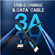 Vention Type-C (USB-C) <-> USB 2.0 Charge & Data Cable 3m Black - Data Cable