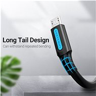Vention USB 2.0 -> MicroUSB Charge & Data Cable 1m Black - Data Cable