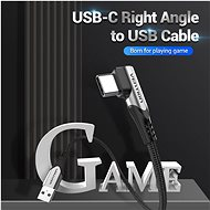 Vention Type-C (USB-C) 90° <-> USB 2.0 Cotton Cable Gray 1.5m Aluminum Alloy Type - Data Cable