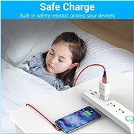 Vention Type-C (USB-C) 90° <-> USB 2.0 Cotton Cable Red 1m Aluminium Alloy Type - Data Cable