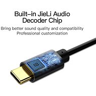 Vention Type-C to 3.5mm Female Audio Cable Adapter with Chip, 0.1m, Black, Metal Type - Adapter