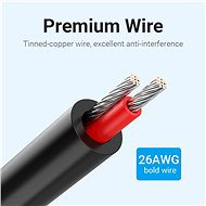 Vention 3.5mm Jack Male to 2-Male RCA Adapter Cable 10M Black - Audio Cable