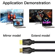 Vention Nylon Braided HDMI 1.4 Cable, 15m, Black, Metal Type - Video Cable