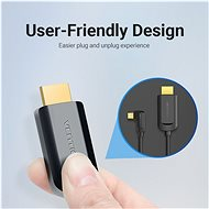 Vention Type-C (USB-C) to HDMI Cable Right Angle, 1.5m, Black - Video Cable