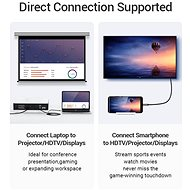 Vention Type-C (USB-C) To HDMI Cable with USB Power Supply, 2m, Black, Metal Type - Video Cable
