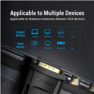 Vention VGA Extension Cable, 10m, Black - Video Cable