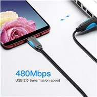 Vention USB2.0 -> microUSB Cable, 1m, Black - Data cable