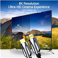Vention HDMI 2.1 Cable 8K, 1m, Black, Metal Type - Video Cable