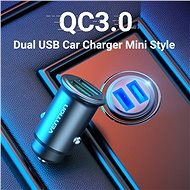 Vention Rapid 2-Port Car Charger (2x QC3.0) 25W Grey Mini Style Aluminium Alloy Type - Car Charger