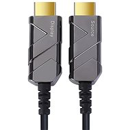 PremiumCord Ultra High Speed HDMI 2.1 Optical Fibre Cable 8K @ 60Hz, 4K @ 120Hz, Gold-Plated, 10m - Video Cable