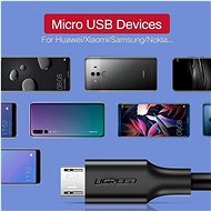 Ugreen Micro USB Cable Black 1m - Data Cable