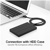 Ugreen USB 2.0 (M) to USB 2.0 (M) Cable Black 2m - Data Cable