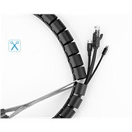 Ugreen Cable Organizer Protection Tube Black 1.5m - Cable Organiser