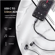 Ugreen Type-C (USB-C) to 3.5mm Jack (F) Audio Adapter Silver 0.1m - Adapter