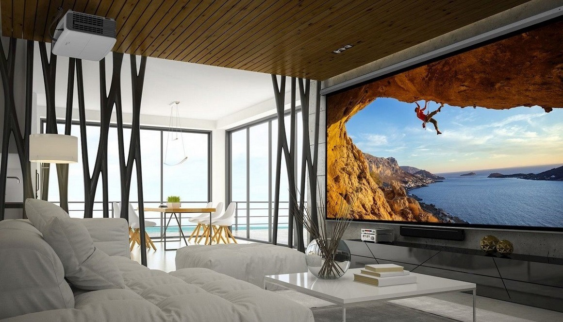 4K projector, projection