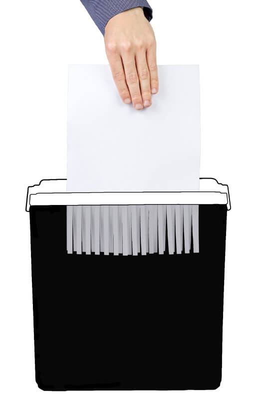 strip-cut paper shredder